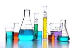 Het Glaswerk van het laboratorium stock afbeelding