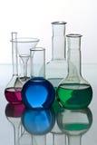 Het glaswerk van het laboratorium Royalty-vrije Stock Foto