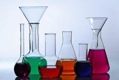 Het glaswerk van het laboratorium Stock Fotografie