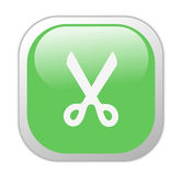 Het glazige Groene Vierkant sneed Pictogram Stock Foto's