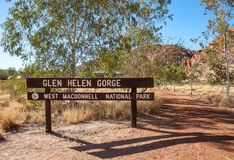 Het Glen Helen Gorge-teken royalty-vrije stock foto