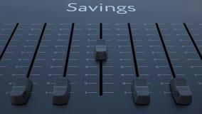 Het glijden fader met besparingeninschrijving vector illustratie
