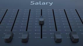 Het glijden fader met salarisinschrijving stock illustratie