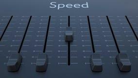 Het glijden fader met snelheidsinschrijving stock footage