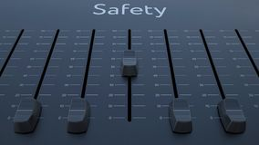 Het glijden fader met veiligheidsinschrijving stock illustratie
