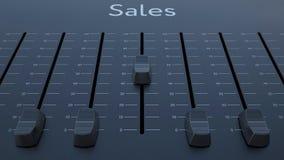Het glijden fader met verkoopinschrijving vector illustratie