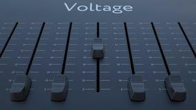 Het glijden fader met voltageinschrijving stock videobeelden