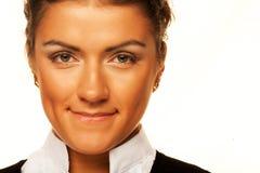 Het glimlachen bedrijfsvrouwenportret stock afbeeldingen
