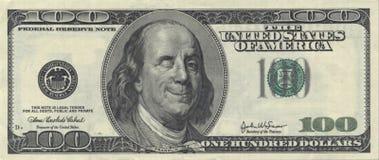 Het glimlachen Ben Franklin met knipoogt Royalty-vrije Stock Afbeeldingen