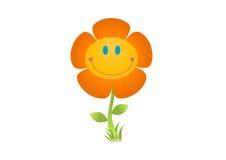 Het glimlachen bloemillustratie Stock Foto
