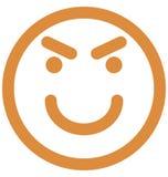 het glimlachen, fonkelend Vector Ge?soleerd Pictogram dat zich gemakkelijk kan wijzigen of uitgeven royalty-vrije illustratie