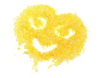 Het glimlachen Gezicht dat van Cornflakes wordt gemaakt royalty-vrije stock foto