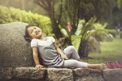 Het glimlachen gezicht van kinderen Stock Fotografie
