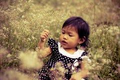 Het glimlachen gezicht van kinderen Stock Foto