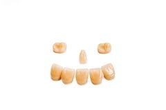 Het glimlachen gezicht van tanden Royalty-vrije Stock Foto's