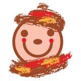 Het glimlachen gezicht in warme kleuren Stock Fotografie