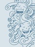 Het glimlachen Gezichten Royalty-vrije Stock Afbeeldingen