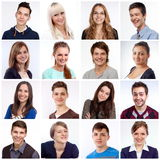Het glimlachen gezichten Royalty-vrije Stock Fotografie