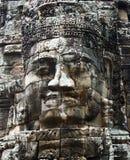 Het glimlachen gezichten in de Tempel van Bayon Stock Foto