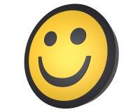Het glimlachen het gezicht CG geeft terug Stock Afbeelding