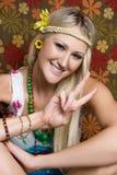 Het glimlachen Hippie Royalty-vrije Stock Afbeeldingen