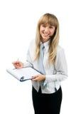 Het glimlachen jonge aantrekkelijke blond met hoofdtelefoon en cl stock afbeeldingen