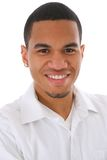 Het glimlachen Jonge Afrikaanse Amerikaanse Mannelijke Headshot Stock Fotografie