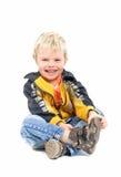 Het glimlachen Little Boy Stock Foto