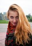 Het glimlachen meisjesportret Stock Afbeeldingen