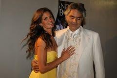 Andrea Bocelli & Veronica Berti Royalty-vrije Stock Foto