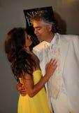 Andrea Bocelli & Veronica Berti Royalty-vrije Stock Foto's