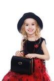 Het glimlachen retro-gestileerd meisjesportret Stock Fotografie