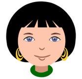 Het glimlachen schitterend gezicht van een meisje Stock Foto