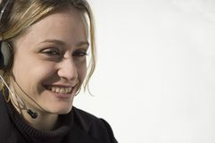 Het glimlachen telemarketer Royalty-vrije Stock Fotografie