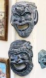 Het glimlachen twee theatermasker stock fotografie