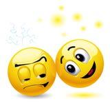 Het glimlachen van ballen Stock Afbeeldingen