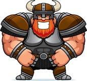 Het glimlachen van Beeldverhaal Viking Stock Foto