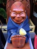 Het glimlachen van Billiken-standbeeld in Osaka royalty-vrije stock foto