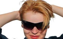 Het glimlachen van Blondie stock afbeeldingen