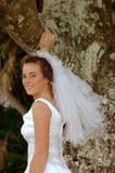 Het glimlachen van de bruid Stock Foto