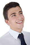 Het Glimlachen van de jonge Mens royalty-vrije stock afbeelding