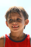 Het glimlachen van de jongen royalty-vrije stock afbeeldingen