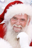 Het glimlachen van de kerstman stock foto