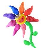 Het glimlachen van de plasticine bloem Vector Illustratie
