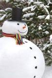 Het glimlachen van de sneeuwman Stock Afbeelding