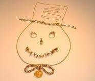 Het Glimlachen van de Sneeuwman van juwelen stock illustratie