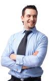Het glimlachen van de zakenman Stock Afbeeldingen