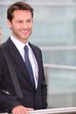Het glimlachen van de zakenman royalty-vrije stock foto