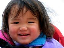 Het Glimlachen van het Meisje van de baby Royalty-vrije Stock Afbeelding