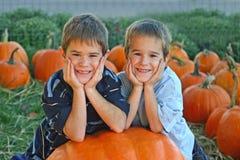 Het Glimlachen van jongens Stock Foto